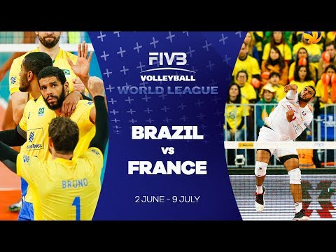 Brazil v France Highlights - FIVB World League