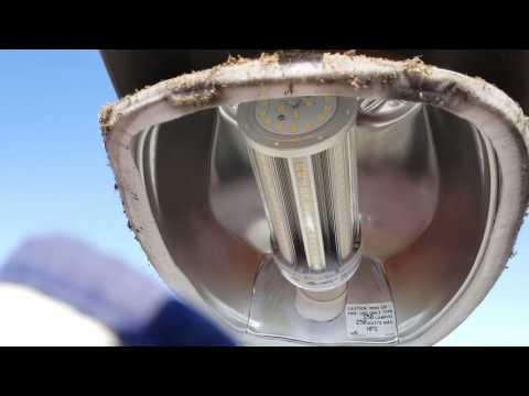 Retrofit LED on street light luminaries