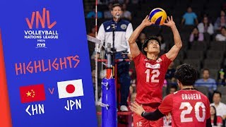 CHINA vs. JAPAN - Highlights Men | Week 4 | Volleyball Nations League 2019