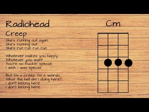 Radiohead - Creep UKULELE TUTORIAL W/ LYRICS