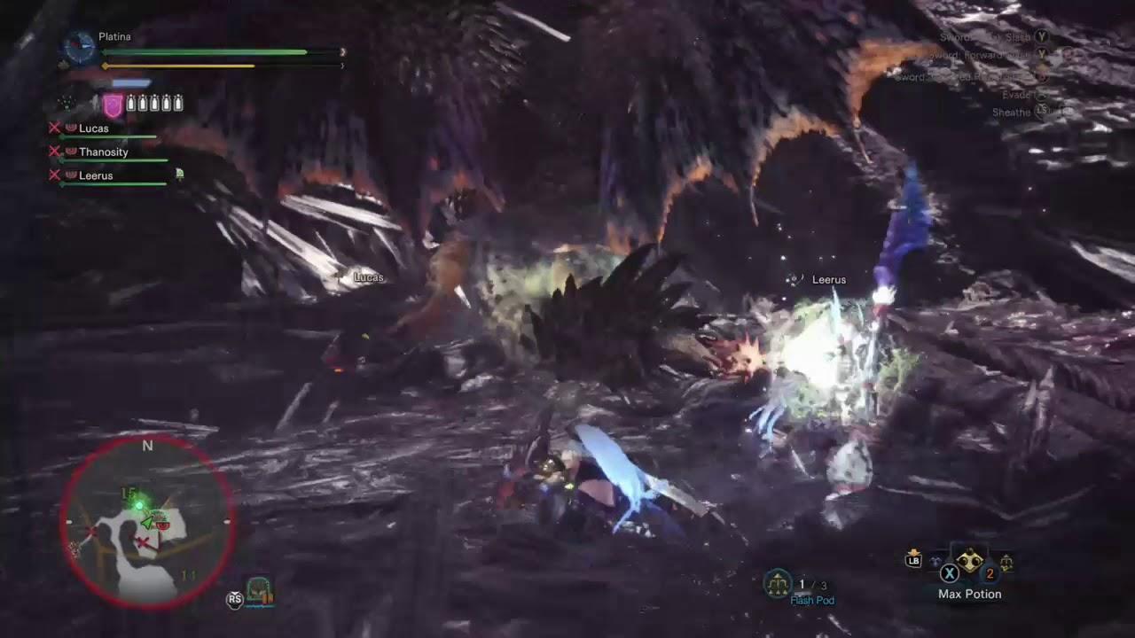 Max Earplugs and Flinch Free gameplay (Monster Hunter World)