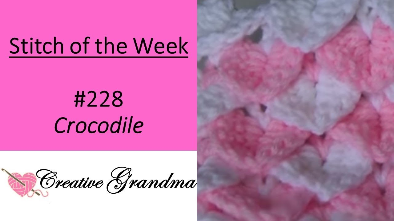 Stitch of the Week # 228 Easy Crocodile Stitch - Free Pattern at the ...