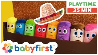 Playtime Coloring for Kids | Toddler Learning Video w Color Crew & GooGoo GaaGaa | BabyFirst TV