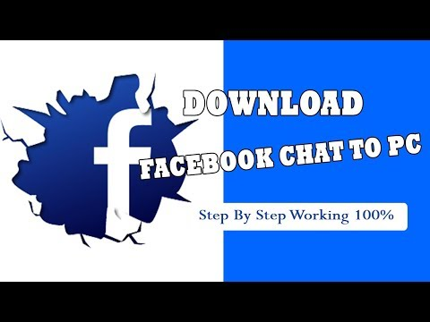 How To Save All Facebook Chat (2019) (New) | Save In Computer