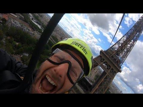 Mit der Seilrutsche vom Eiffelturm: Nervenkitzel in Paris
