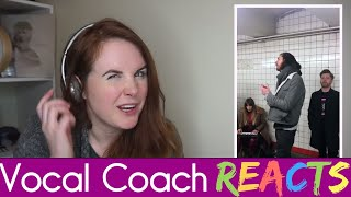 Vocal Coach reacts to Hozier - Take Me To Church (Live Pop-Up Show in NYC Subway)