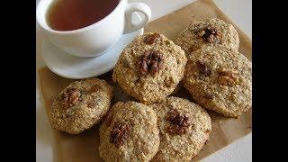 Домашнее овсяное печенье с грецкими орехами без муки
