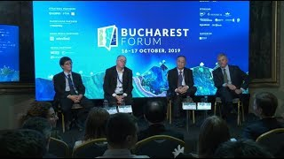 """""""Trade Wars, Conflicts and Global Governance"""" panel at Bucharest Forum 2019"""