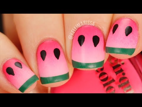 Cute Summer Watermelon Nail Art DIY Tutorial || KELLI MARISSA