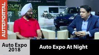 Maruti Suzuki Auto Expo 2018 at Night