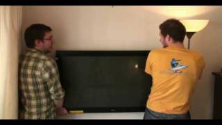 How to wall mount a Plasma/LCD WITHOUT a bracket!!!! Exclusive....It Really Works!!!!!
