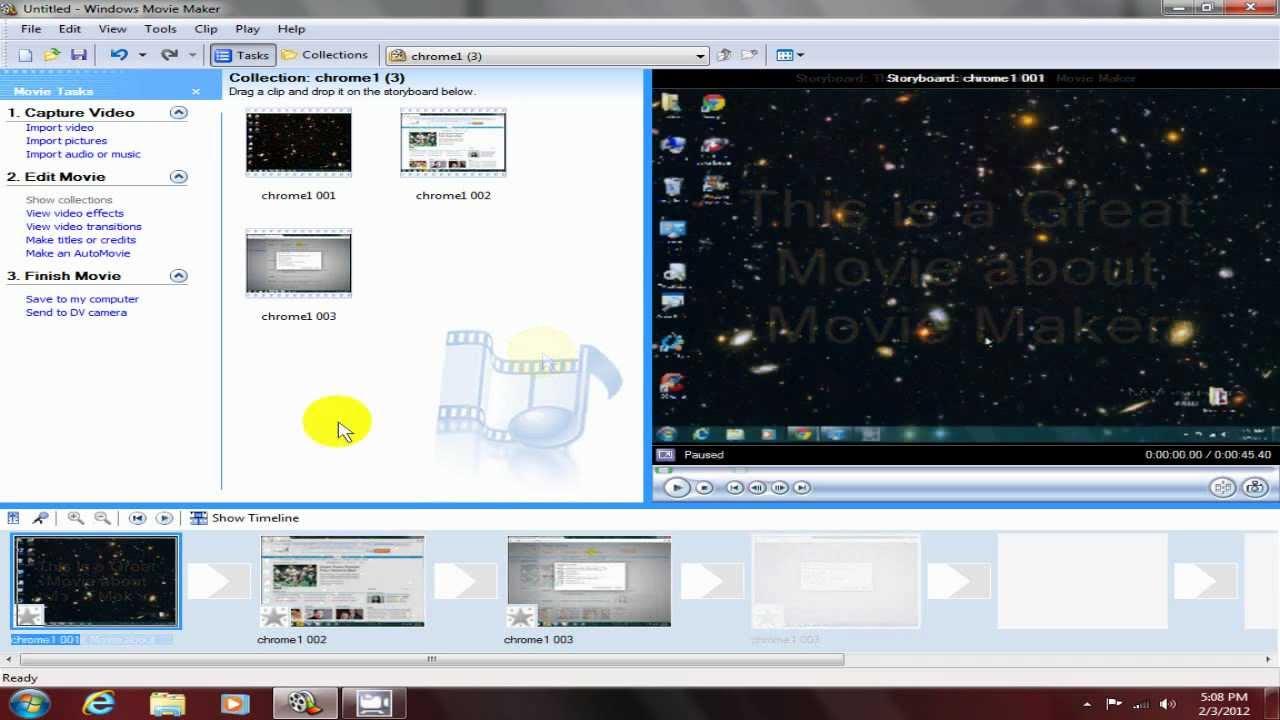 Windows Movie Maker Windows 7 2012 Tutorial Free & Easy ...