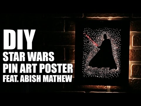How To Make A DIY Star Wars Pin Art Poster Feat. Abish Mathew | Mad Stuff With Rob
