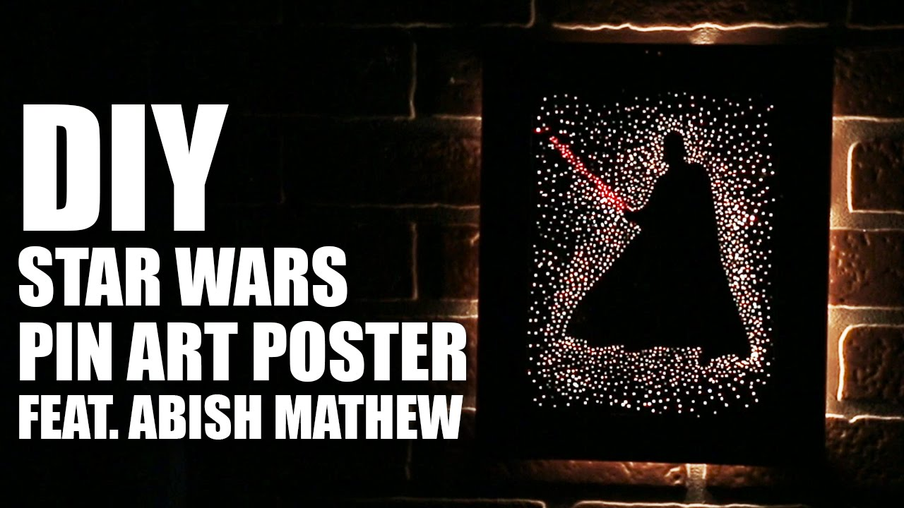 how to make a diy star wars pin art poster feat abish mathew youtube. Black Bedroom Furniture Sets. Home Design Ideas