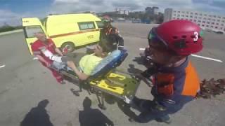 Эвакуация подростка от подножья горы Фишт