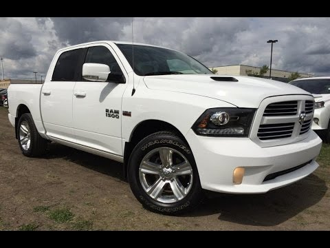 pre owned white 2014 ram 1500 4wd crew cab 140 5 sport in depth review calgary alberta youtube. Black Bedroom Furniture Sets. Home Design Ideas