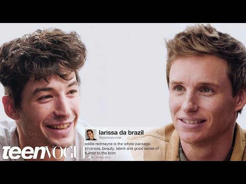 Ezra Miller and Eddie Redmayne Compete in a Compliment Battle  Teen Vogue