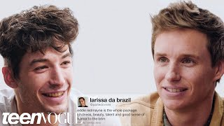Ezra Miller and Eddie Redmayne Compete in a Compliment Battle | Teen Vogue thumbnail