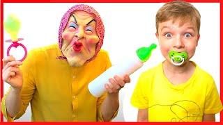 Няня и сборник историй забавных детей | Правила поведения для детей