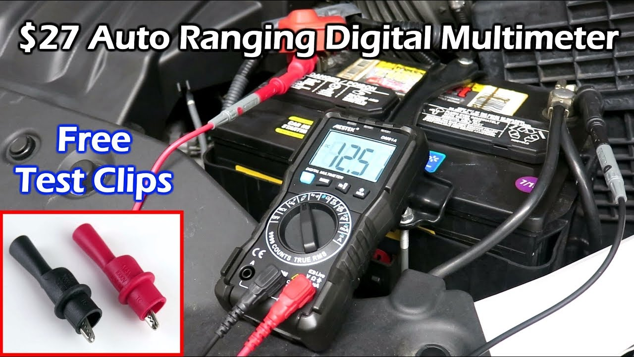 27 true rms auto ranging digital multimeter mestek dm91a [ 1280 x 720 Pixel ]