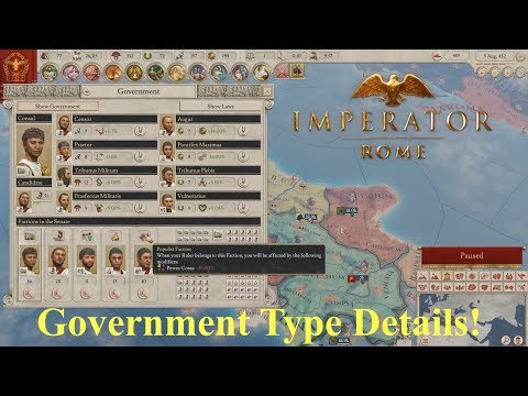 Imperator: Rome - Government Types in Detail - Every Type, All Stats  