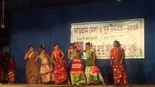 Gate Kuri Santali Dance Performance-Jhargram Mela 2014
