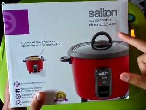 unboxing of the salton automatic rice cooker rc 1211 and reading of rh youtube com Salton Rice Cooker RA3A Manual Salton Crock Pot