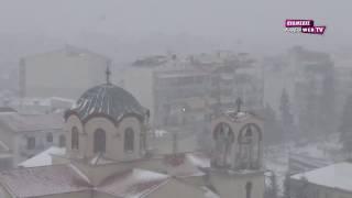 Ισχυρή χιονόπτωση στο Κιλκίς-Eidisis.gr webTV