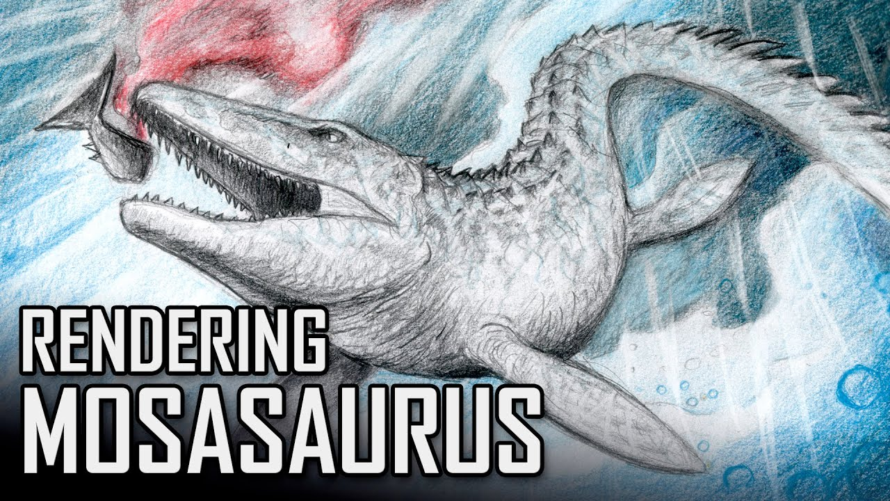 Rendering and Coloring Mosasaurus from Jurassic World - YouTube