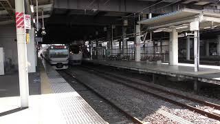 ときわ68号 E657系 K14編成 水戸駅発車