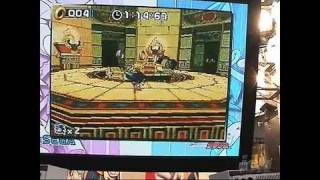 Sonic Rush Nintendo DS Gameplay - TGS 2005 (Shakey-Cam)