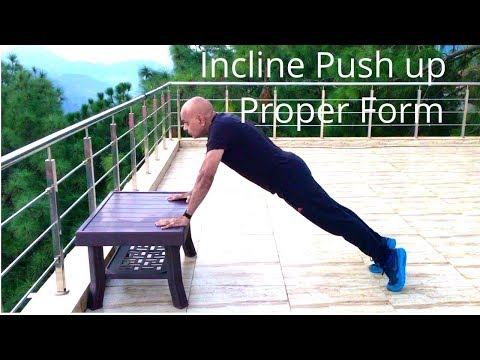 Incline Pushups For Beginners And Seniors Learn How To Do Incline Push Up Exercise Correctly