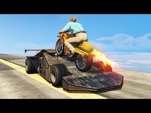 RAMP CAR vs. ROCKET BIKE! (GTA 5 Mods)