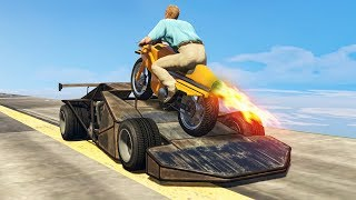 RAMP CAR vs. ROCKET BIKE! (GTA 5 Mods)