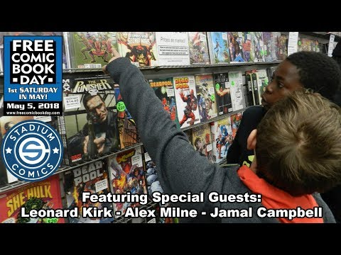 Unboxing Free Comic Book Day 2018 at Stadium Comics - See all the FREE books here! FCBD