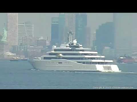 YACHT ECLIPSE Arrives New York Harbor 2-13-2013