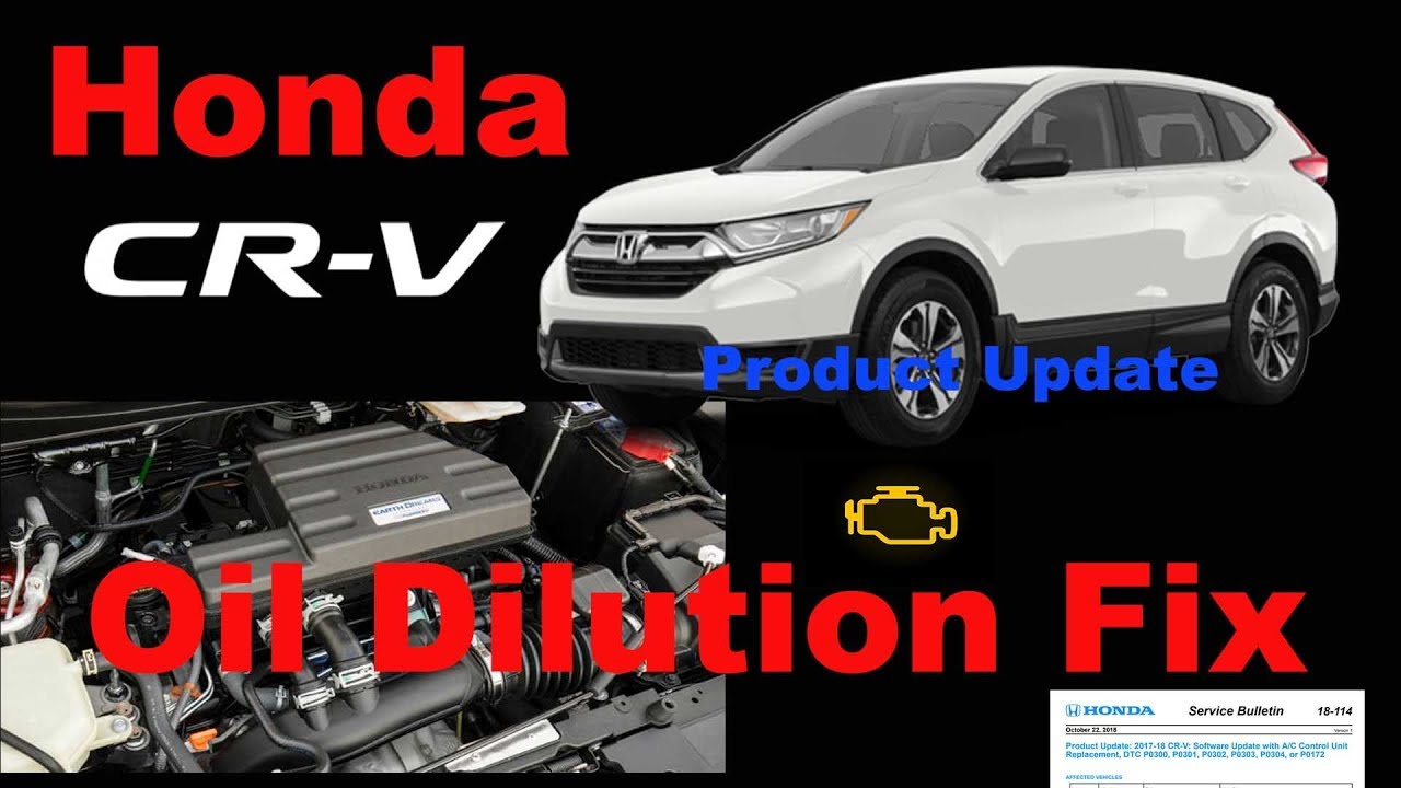 2017 2018 Honda CRV 1 5 Oil Dilution Product Update Recall