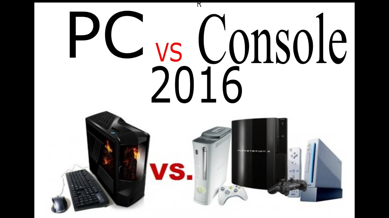 pc gaming vs console gaming 2016