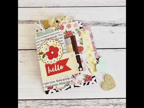 USE YOUR PAPER SCRAPS | Mini Happymail Flipbook | Mini Album | Junk Journal | TUTORIAL