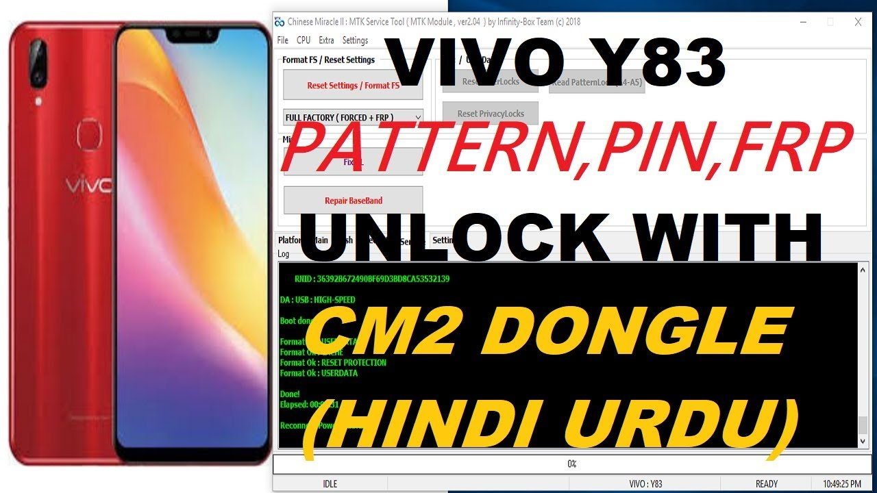 Vivo Y83 Pattern Pin Frp Remove With Cm2 - Farhaz Mobile Software