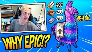 NINJA REACTS TO LOOT LLAMAS BEING NERFED! *SAD* Fortnite SAVAGE & FUNNY Moments