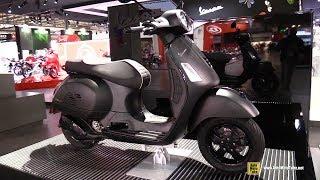 2018 Vespa GTS Super 300 Scooter - Walkaround - 2017 EICMA Motorcycle Exhibition