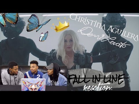 Christina Aguilera - Fall In Line Feat. Demi Lovato REACTION