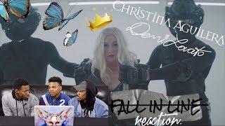 Baixar Christina Aguilera - Fall In Line Feat. Demi Lovato REACTION