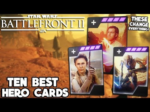 Star Wars Battlefront 2 - 10 Hero Star Cards to Make You a Battlefront II MASTER! thumbnail