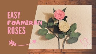 Pink & White Foamiran Rose Tutorial | Step by Step DIY