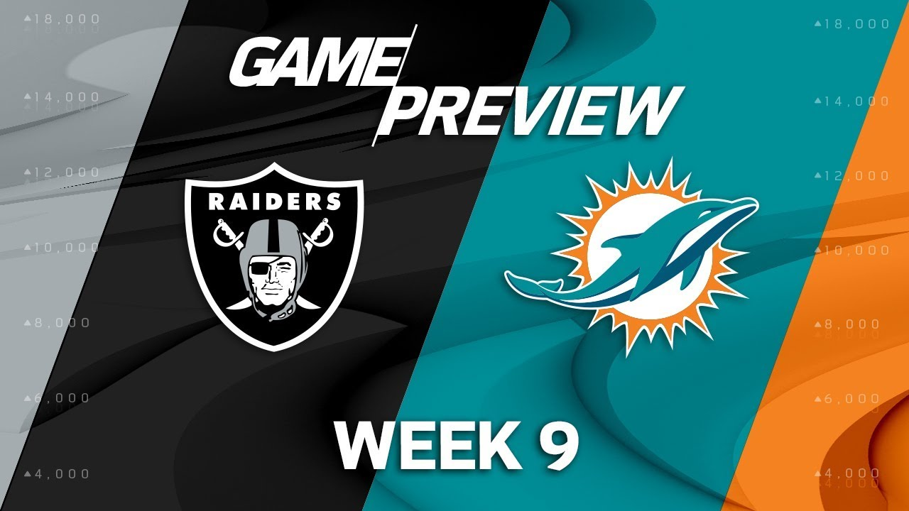 Oakland Raiders At Miami Dolphins: Week 9 Sunday Night Football Picks And Odds