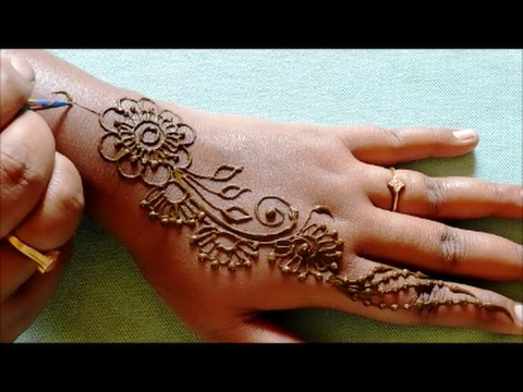 Easy Henna Hand Designs Step By Step
