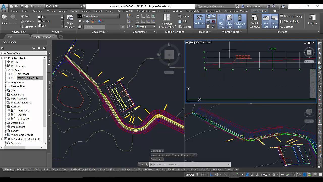 06 - Novidades AutoCAD Civil 3D 2018 - Usando a zona de desenho em Seções Transversais - YouTube