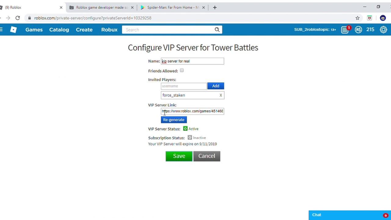 Roblox Vip Servers Free